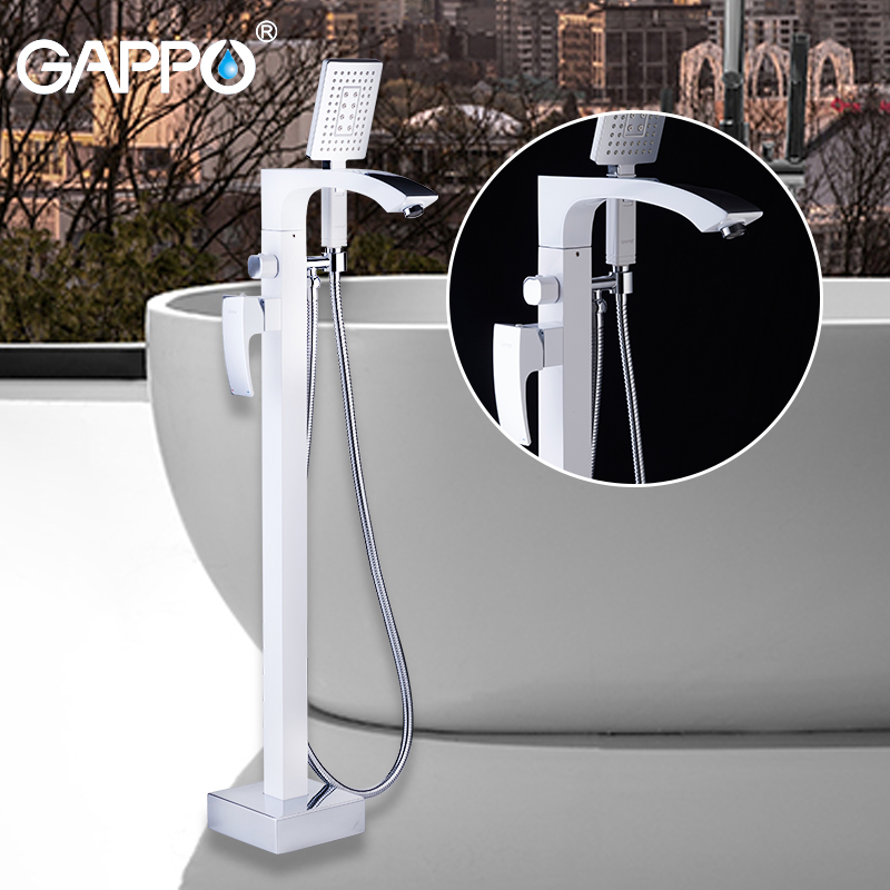 GAPPO Sanitary Ware Suite do anheiro taps white free bathtub faucets brass bathroom rainfall shower bathtub faucet baignoire