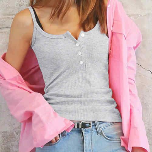 แฟชั่นผู้หญิงเซ็กซี่ฤดูร้อนเสื้อกั๊กถักเสื้อผู้หญิงเสื้อแขนกุดกระโปรงเสื้อลำลองเสื้อผ้า
