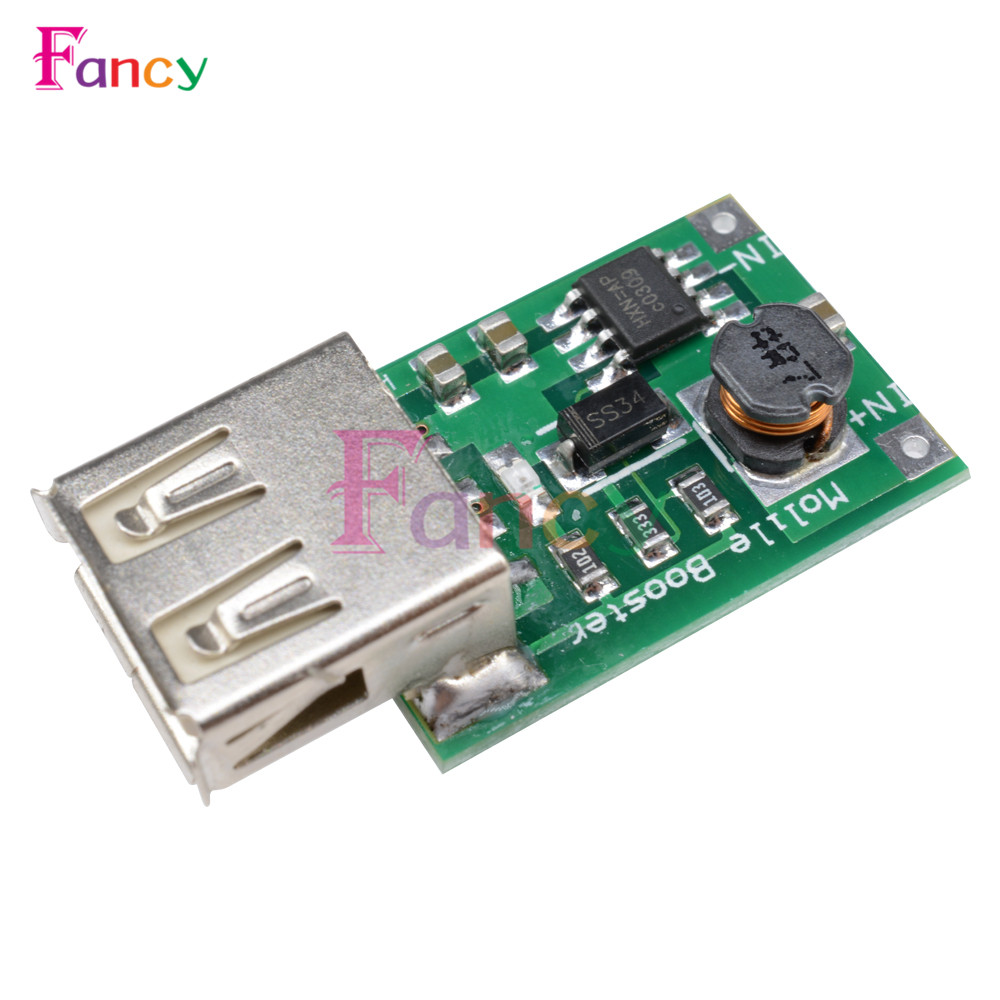 2V-5V To 5V 1200MA USB Output Boost Converter Mini DC-DC Step-up Power Module Lithium Battery Charger Board For Phone Camera