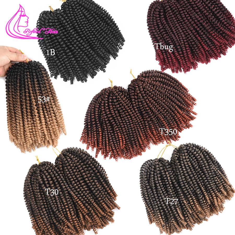 Extensiones de cabello trenzado de Primavera de pelo refinado Ombre negro marrón mujer trenzas de ganchillo pelo trenzado sintético
