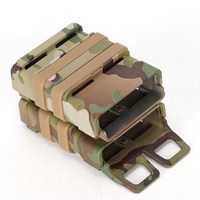 Tactical Airsoft Rifle 5.56 Mag M4 Magazine Fast Attach Tactical Pouch Molle System Hard Shell Cartridge Molle Clip for Hunting