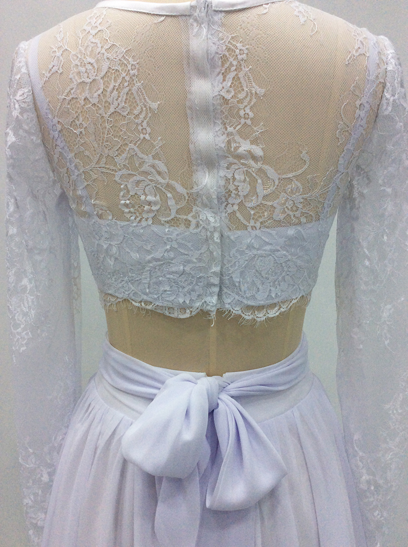 Vestido De Noiva 2018 Romantic Bohemian Wedding Dress Two Piece ...