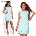 sleeveles summer women dresses big sizes fashion NEW 2017 plus size women clothing Cute mini dress casual o-neck vestidos L-6XL