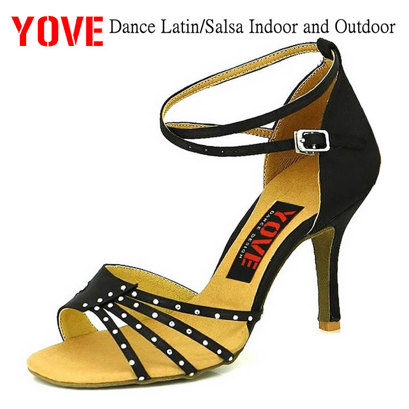 YOVE Style w125-4 Dansesko Bachata / Salsa Indoor and Outdoor Women's Dance Shoes