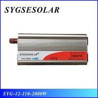Hot sale 12v 110v 2000w inverter modified sine wave inverter with 2 American sockets free shipping