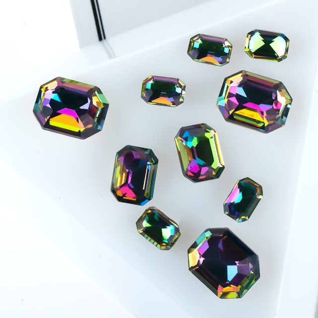 Amazing Color Nail Art Decorations Glass Rhinestones Multi Shape Loose Stones DIY Charms Jewelry Designs 3D Nail Accessories