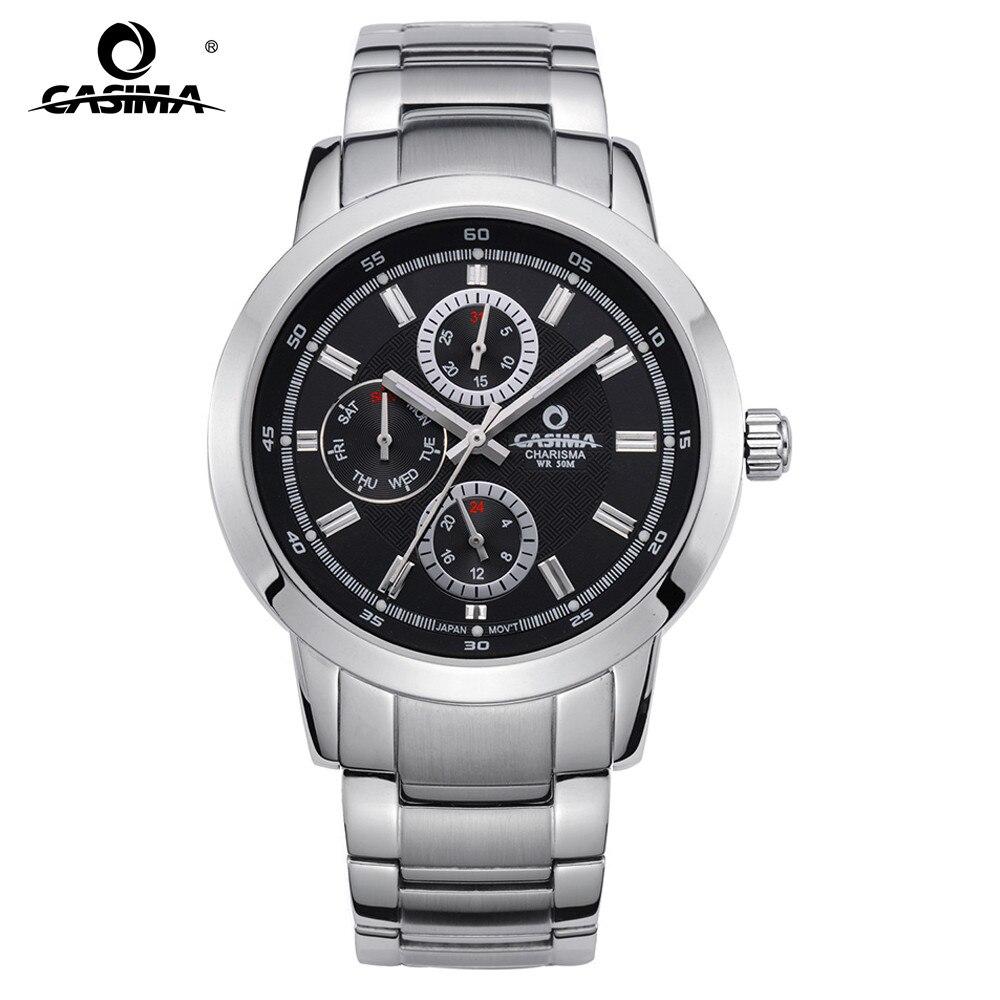 CASIMA мужские деловые часы люксовый бренд часы платье Досуг кварцевые наручные часы мужские водостойкие светящиеся руки #5105
