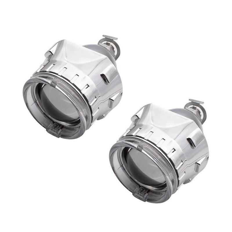 Купить с кэшбэком Safego LHD 2.5 Inch Bixenon Projector Kit for H1 H4 H7 Car HID Xenon Headlight 2 Projector Lens + 2 mask shroud + 2 angel eyes