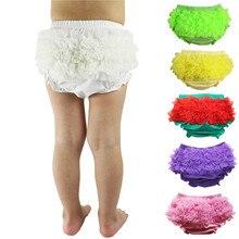 Модная летняя одежда милый детский подгузник Обложка для новорожденных Детские шорты с рюшами Короткие штаны детские хлопковые шифоновые шаровары с рюшами
