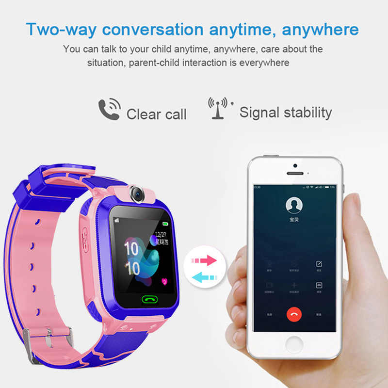 Q12B Children Smart Watch Touch Screen SOS Call LBS Tracking Location Find Kids Baby Smart Watch Smart Watch Ios Android Watch