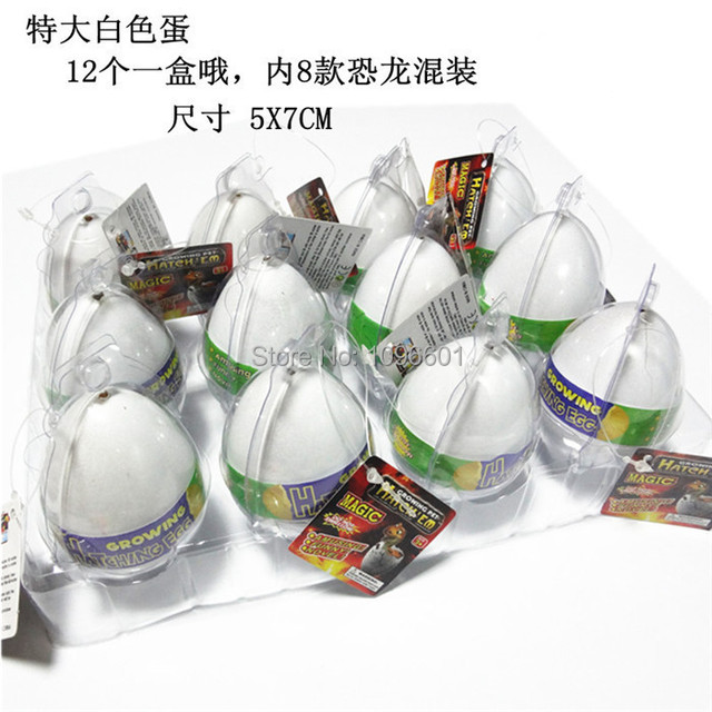12 pcs fissures cultiver magique egg ducation bb drle noveltytoys dinosaure oeuf expansion de l