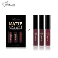 Best Deal New Fashion 3PCS Women Waterproof Matte Liquid Lipstick Cosmetic Sexy Lip Gloss Kit