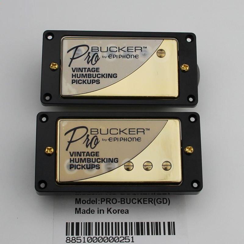 1 Set LP Standard ProBucker Alnico Electric Guitar Humbucker Pickups with Pro Wiring Harness For EPI Golden Cover