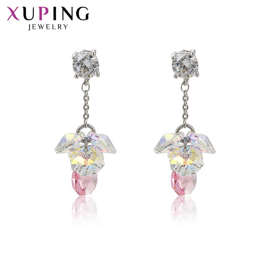 Xuping Elegant Colorful Earrings High Quality Crystals from Swarovski for Women Temperament Ladies Gifts M64-20307