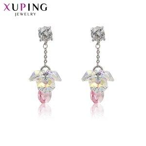 Xuping элегантные красочные серьги высокого качества кристаллами от Swarovski для женщин темперамент дамы подарки M64-20307