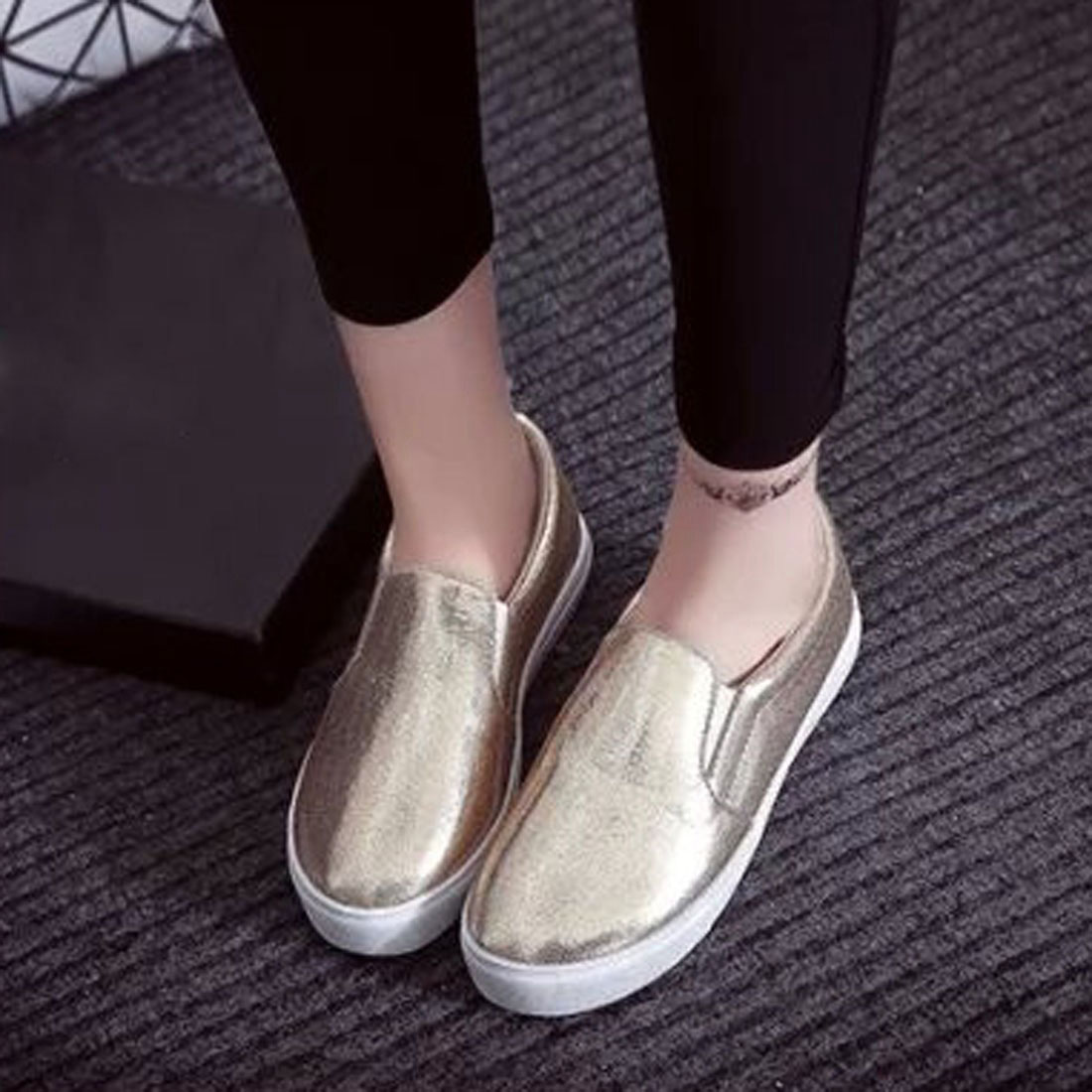 Spring High Quality Women Leather Loafers Casual Flats Shoes Woman Slip On Female Shoes Moccasins slipony zapatos mujer ynm l01 evolis r3314 ymckok color ribbon 200 prints free shipping