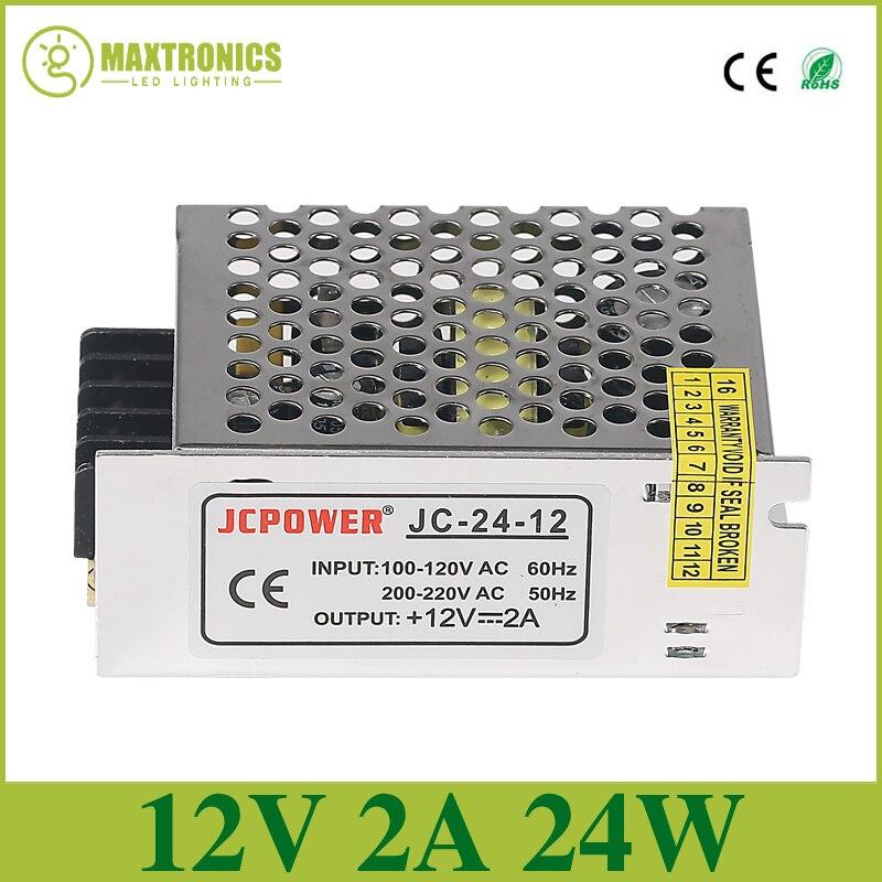UK 24W 240V AC to 12V DC Power Supply Driver Transformer for LED Strip Light