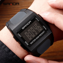 Trend digital sports waterproof square male and female students Korean version of the simple electronic watch Complete Calendar brothers watch male brothers a pair of high school students korean version of the simple trend leisure atmosphere personality