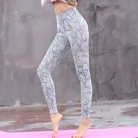 인쇄! 춤 여성 레깅스 패션 스트라이프 인쇄 높은 허리 레깅스 여성 스포츠 피트니스 바지 탄성 슬림 Jeggings