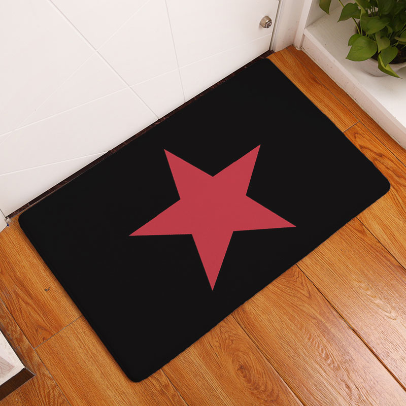 Monily Nordic Entrance Anti-Slip Floor Mat Waterproof Simple Star Carpets Bedroom Rugs Decorative Stair Mats Home Decor Crafts