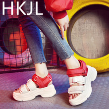 HKJL Fashion 2019 new female summer sandals with a thick bottom muffin fairy shoes retro A317