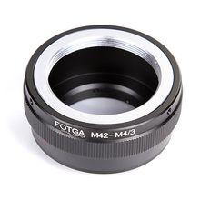 FOTGA M42 Gắn Ống Kính Micro 4/3 M4/3 Adapter Ring Cho Olympus Panasonic G1 G7 GH1 GF1 GF7 EP 1 E PM2 E PL7