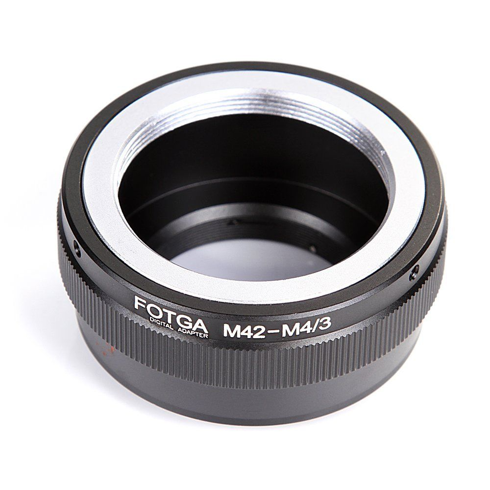 FOTGA M42 Mount Lens to Micro 4/3 M4/3 Adapter Ring for Olympus Panasonic G1 G7 GH1 GF1 GF7 EP-1 E-PM2 E-PL7 fotga konica ar lens to panasonic olympus m4 3 adapter ring black
