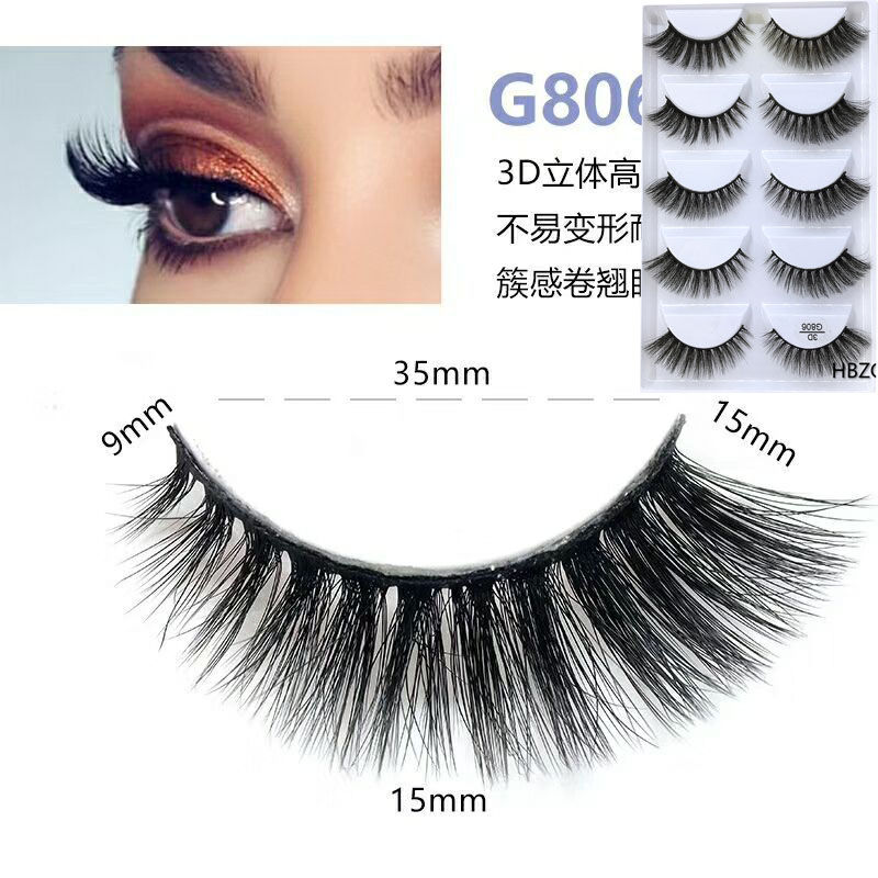 50 Box 3d Mink lashes 100 Thick real mink false eyelashes natural for Beauty Makeup Extension