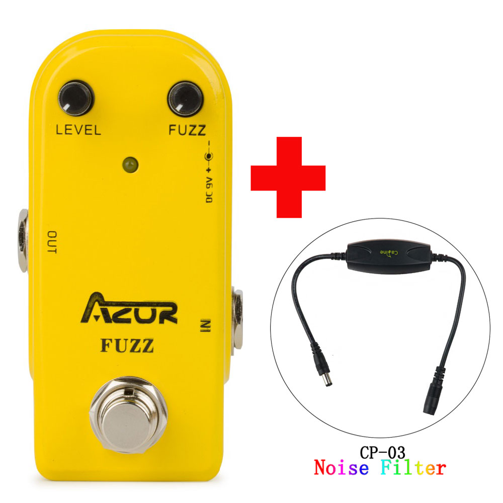 AP-310 Fuzz Guitar Effect Pedal with Ture Bypass and Caline CP-03 Noise Filter mooer ensemble queen bass chorus effect pedal mini guitar effects true bypass with free connector and footswitch topper