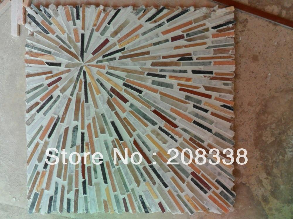 Muralinmosaïque, mosaïque de pierre, mosaïque de marbre, mosaïque d'art