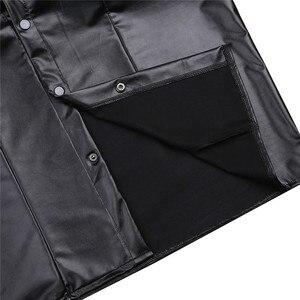 Image 5 - Męskie seksowne miękkie faux skórzane koszulki męskie czarne koszulki obcisłe koszule podkoszulki jako mundur policyjny topy z kołnierzem w dół