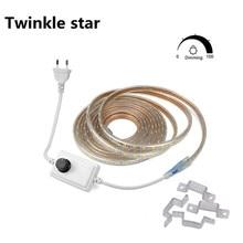 Dimmable 220v 230v 240v Led Strip Light Waterproof SMD 5050 Tape 6500K Cool White 3000K Red Blue Green Yellow Rope 1m 5m 10m 15m