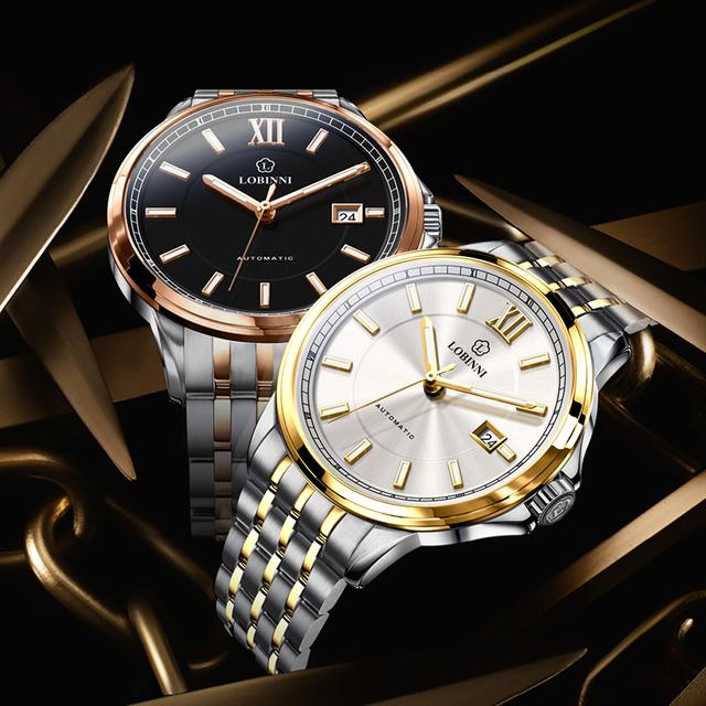 Switzerland LOBINNI Luxury Brand Men Watches Sapphire relogio Japan Import NH35A SIIO Automatic Mechanical MOVT Clock L9003M-1