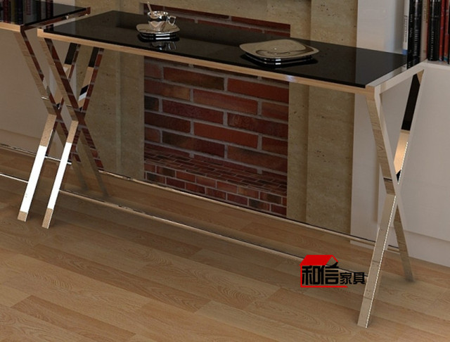 Special Glass Foyer Cabinet Stainless Steel Console Table IKEA Tianyuan  Xuan Shut Off Taiwan Minimalist Modern