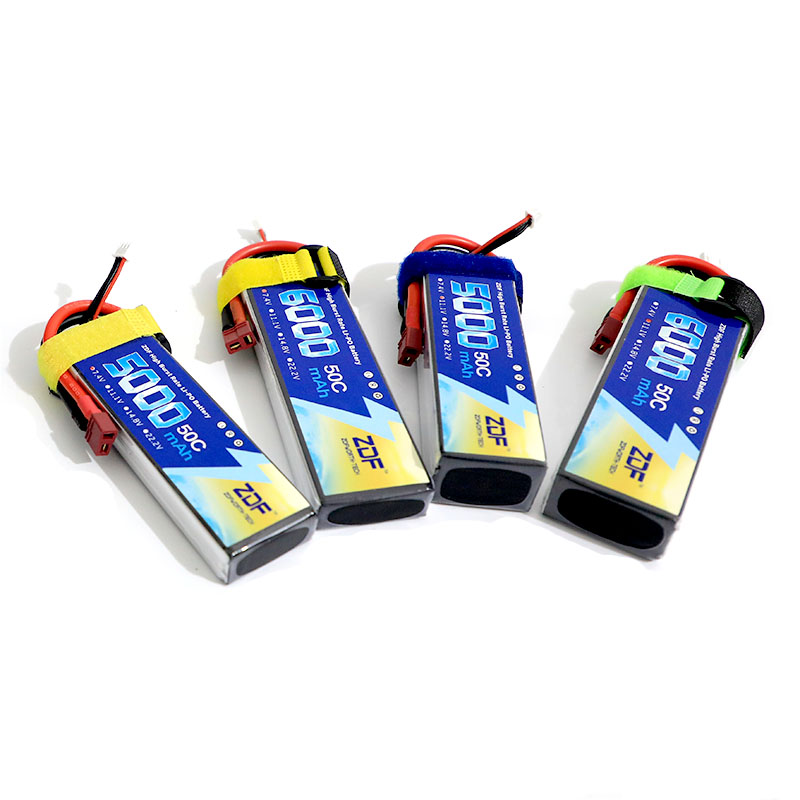 все цены на ZDF Power 7.4v 11.1V 2S 3S 5000mAh 6000mah 50C 100C Lipo battery with Deans T plug For RC Helicopter Quadcopter онлайн