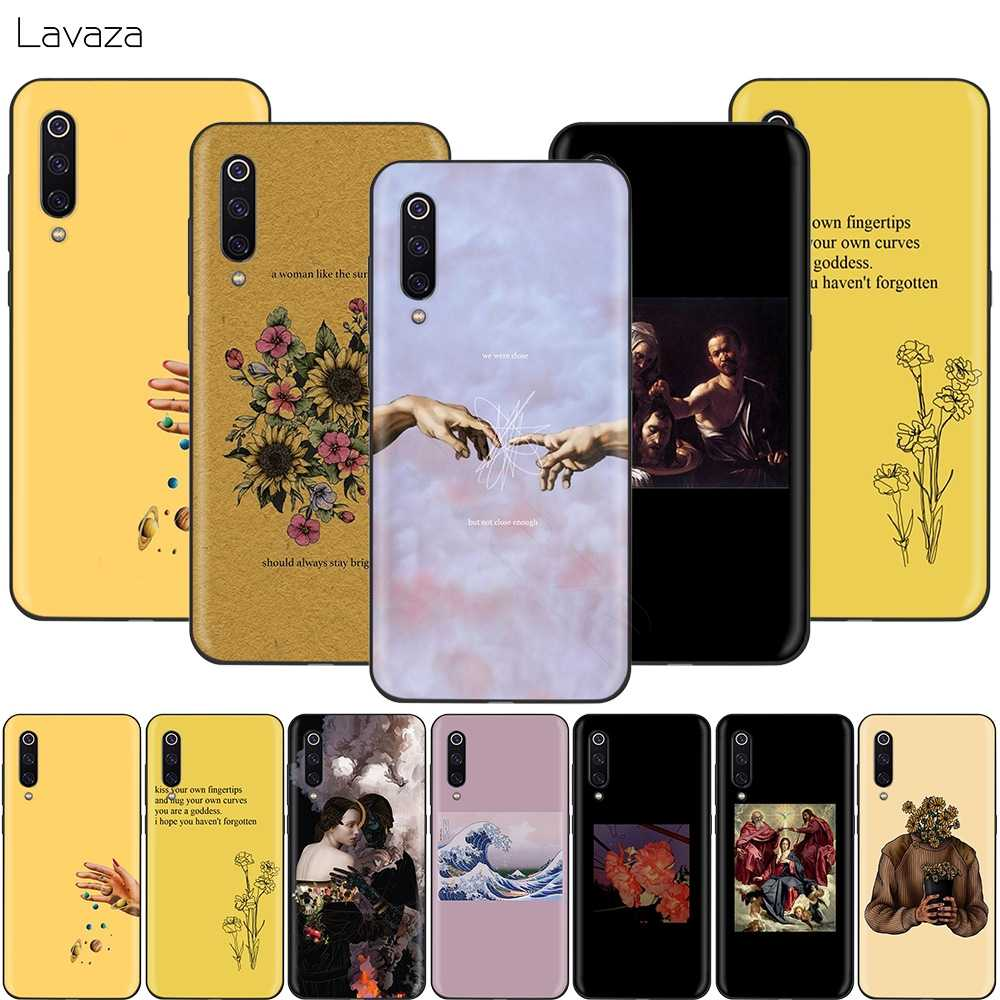 Lavaza Aesthetics Yellow Oil Painting Case for Xiaomi Redmi Note 7 6 6A 5 5A 4 4X 4A Go Pro Plus Prime