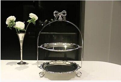ยุโรปชุบเงินยืนเค้กแต่งงานเค้กแต่งงานจานตกแต่งอุปกรณ์เค้กแต่งงานt opper DGP001-ใน ขาตั้ง จาก บ้านและสวน บน   3