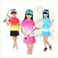 Chica Trajes Con Niños Camiseta y Falda de Los Deportes de Tenis Bádminton de Secado rápido