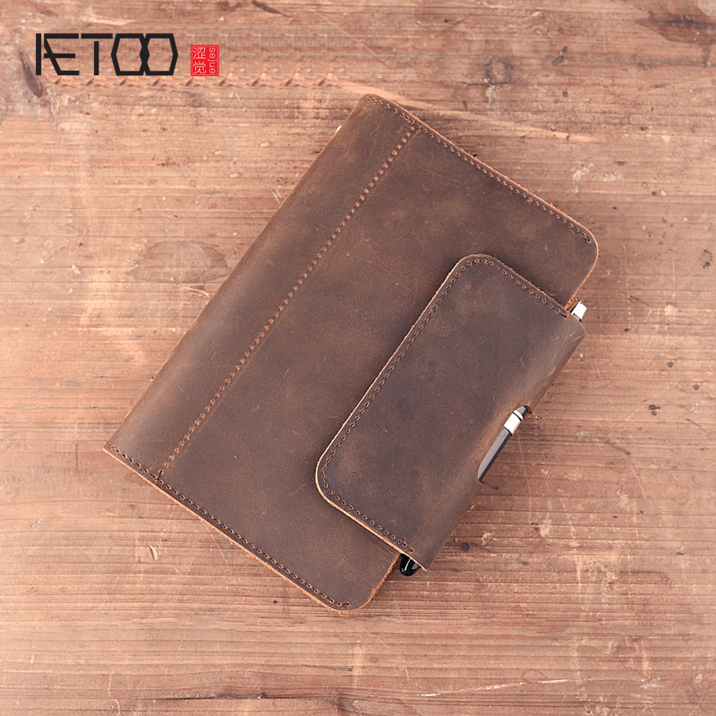 все цены на AETOO brand Crazy horse Handmade leather travel notebook A6 book diary original notebook original gift notebook Vintage онлайн