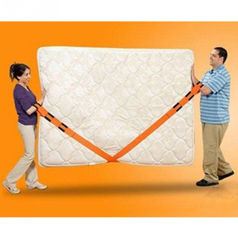1 Pair New Orange High-class Fabric Straps Carrying Ropes Lifting Moving Furniture Carrying Belt Sofa Bed Desk Moving Tools