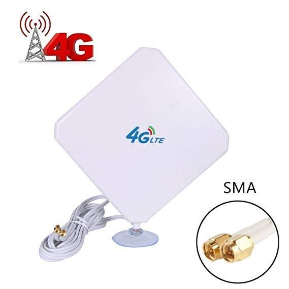 Kuwfi 4 4g lteアンテナ35dBi smaコネクタ長距離ネットワークと吸引カップのための4 3gモデム/ルータ/ホットスポットとsmaオスc