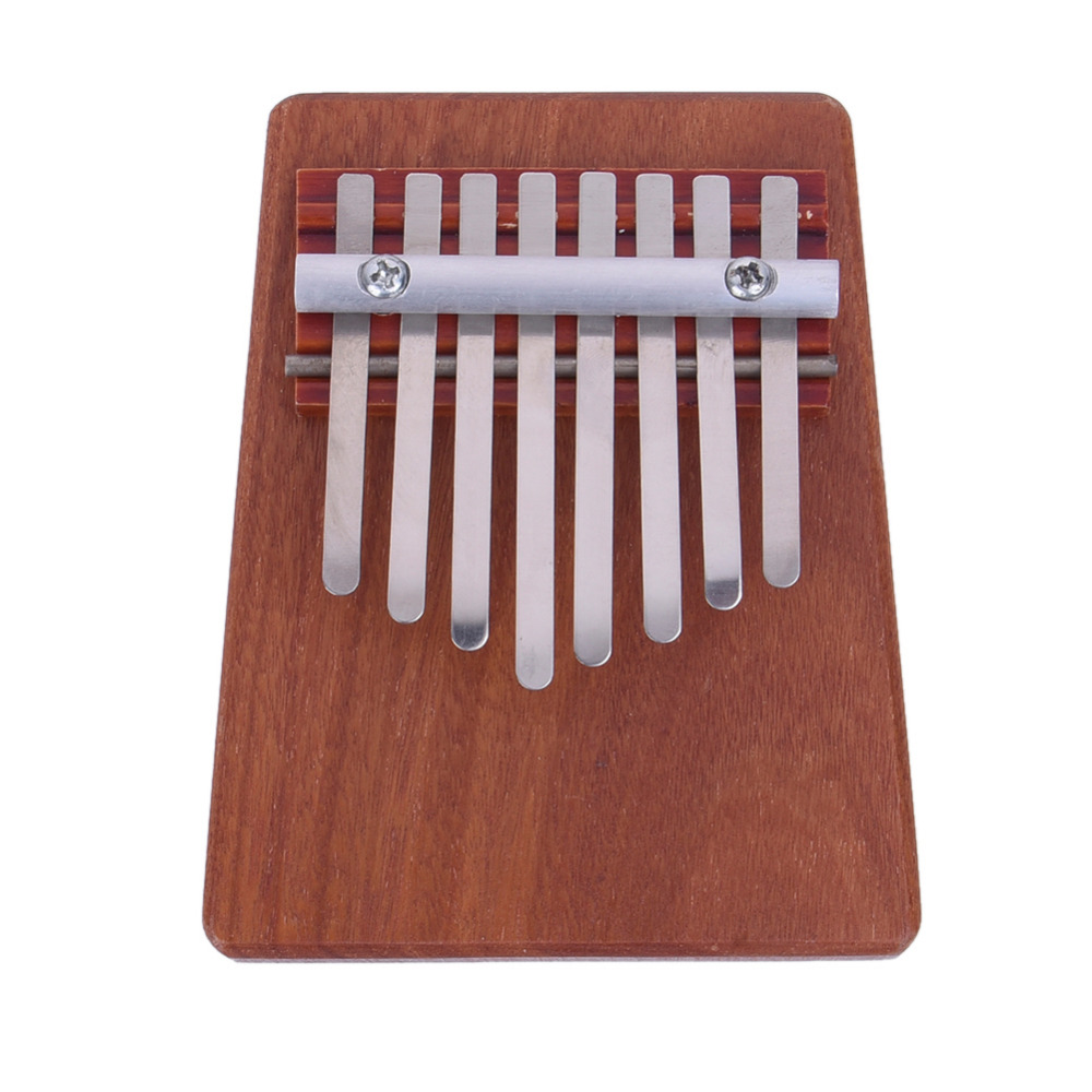 red pinewood kalimba 10 key finger thumb piano musical instrument Finger Thumb Piano 8 Keys Rosewood Musical Instrument Kalimba Mbira Likembe Sanza Thumb Piano Pine Enjoy Life From Little Fun