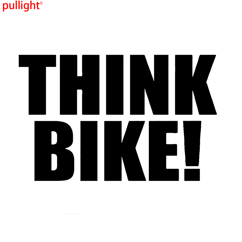 THINK BIKE Safety Novelty Car Van Window Bumper Motorcycle Vinyl Sticker Decal in Car Stickers from Automobiles Motorcycles