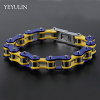 High Grade Cool Punk Bike Chain Motorcycle Chain Stainless Steel Bracelet For Men Women Bangles Jewelry