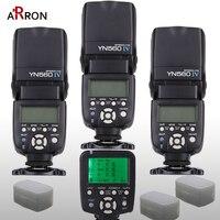 3x Wireless Speedlite Flash Yongnuo Hot YN560 IV +YN560TX Flash Controller For Canon Nikon with free 3 Flash Diffuser Box