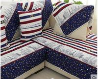 European Mediterranean Sofa Cushions Four Seasons Fabric Cotton Cushion Non Slip Solid Wood Leather Sofa Towel