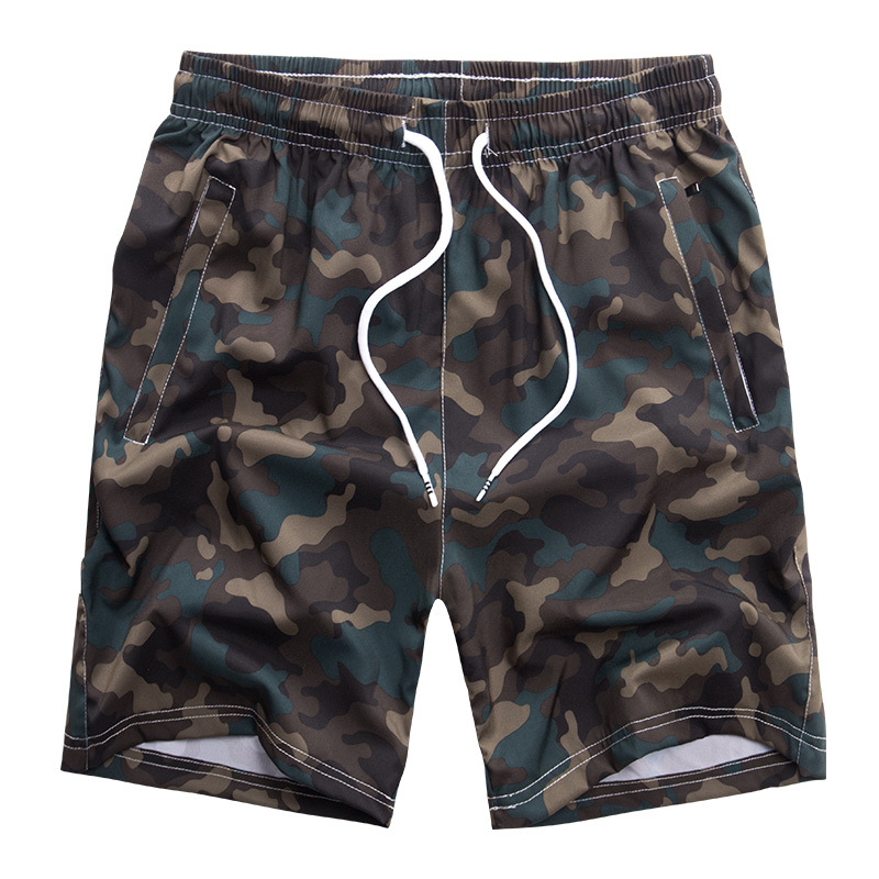 Quick Dry New Summer 2019 Mens Beach Board Camouflage Shorts Plus SIZE For 60-140KG FIT Waist 29-52 Inch 92% Polyester