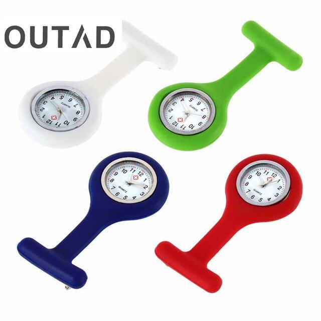 1Pcs woman Pendant clock chain pocket Nurses Pocket watch Mini Portable Silicone