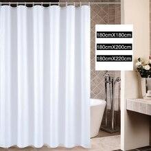 White Shower Curtains Bath Curtain Modern Waterproof Polyester Bath Curtain cortina de ducha For Bathroom with 12pcs Hooks