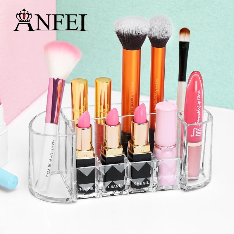 ANFEI Diamond Pattern Clear Cosmetic Box Ruj de Craciun Machiaj Perii - Organizarea și depozitarea în casă